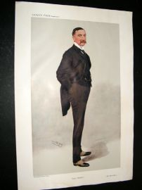 Vanity Fair Print 1908 ORH Bury, Rail